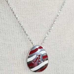 Jewelry - Alabama Crimson Tide Silver Necklace